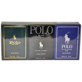 Ralph Lauren Polo Variety Mens 3 Piece Mini Gift Set