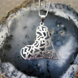 Sterling Silver Multi hearts Necklace (Thailand)