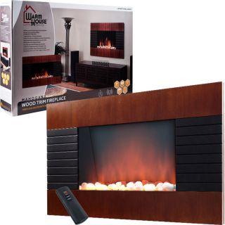 Warm House Mahogany Trim Fireplace 1500 Watt Heater Today $228.99
