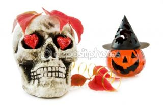 Halloween love with scary skull  Stock Photo © Eireann #1260977
