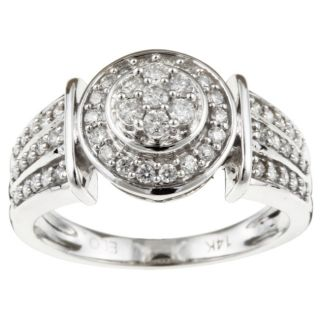 14k White Gold 1/2ct TDW Diamond Medallion Ring (G, I2) (Size 7
