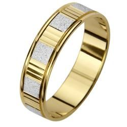 14k Two tone Gold Mens Watch Band Easy Fit Wedding Band