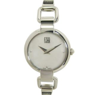 ESQ Nola Womens Steel Black Insert Bracelet Watch