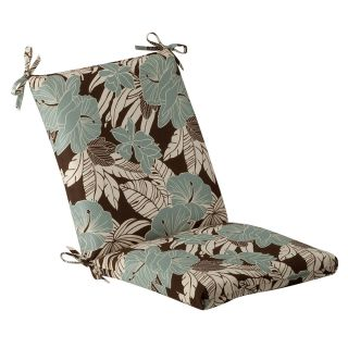 Pillow Perfect Outdoor Brown/ Blue Tropical Square Chair Cushion