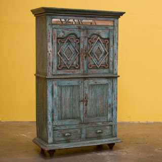 Teak Wood Hand carved Antique Cabinet (India)