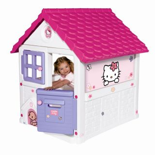 Smoby   Grande Maison Hello Kitty   2 larges rideaux tissus   Fenêtre