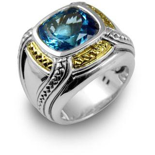 Scott Kay Sterling Silver Blue Topaz Womens Ring
