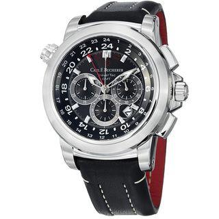 Carl F. Bucherer Mens Patravi Black GMT Dial Automatic Watch