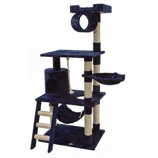 Go Pet Club Blue 62 inch High Cat Tree Furniture