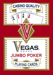Vegas Jumbo Poker Cards (Case of 144)