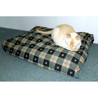 Hidden Valley Medium Paw Print Rectangle Pet Bed