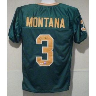 Joe Montana Signed Jersey   Green Size XL   Autographed