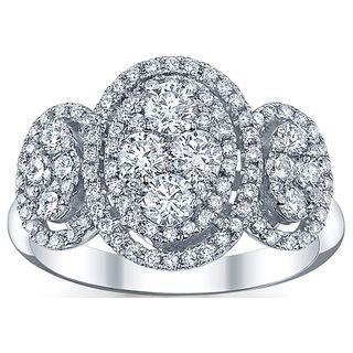 18k White Gold 1 1/4ct TDW Diamond Engagement Ring (G H, SI1 SI2