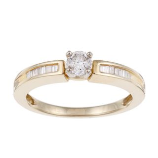 14k Yellow Gold 1/3ct TDW Diamond Engagement Ring (J K, I2 I3