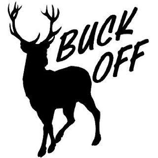 Deer Buck Off Silhoulete Tribal 5 Inch Black Decal