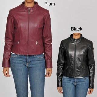Knoles & Carter Womens Plus Size Leather Glove fit Jacket