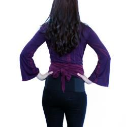 Womens Rayon Tie dye Multi wear Open Wrap Top (Nepal)