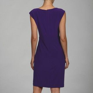 Jones New York Dress Rosette Matte Jersey Dress