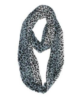 Modadorn Leopard Print Tie Dye Circular Infinity Charcoal