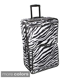 Rockland Zebra 24 inch Expandable Rolling Upright Luggage Today $59