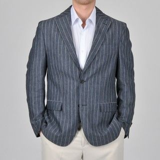 Mens Stripe Linen Blazer