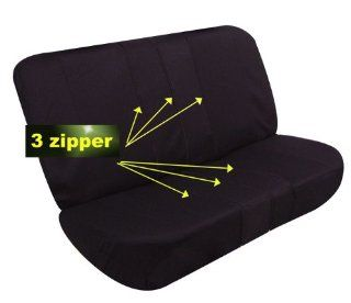 Univerisal Bench Seat Cover 40/60 Split and 50/50 Split Fb051 Black