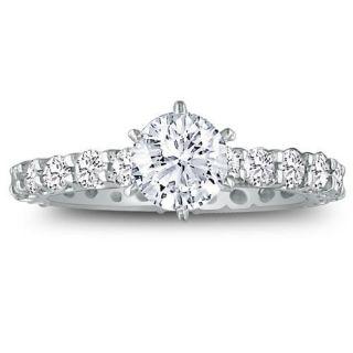 14k White Gold 4ct TDW Diamond Eternity Engagement Ring (H I, I1