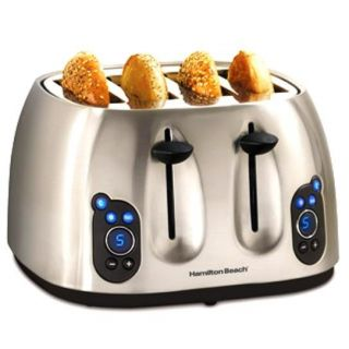 Hamilton Beach 24502 Wide Slot 4 slice Digital Toaster (Refurbished