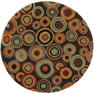 Hand tufted Contemporary Multi Colored Circles Geometric Dazed New
