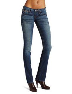 True Religion Womens Billy Straight Leg Low Rise Jean