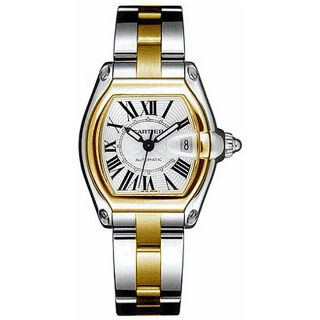 Cartier Roadster Mens 18k Two tone Watch