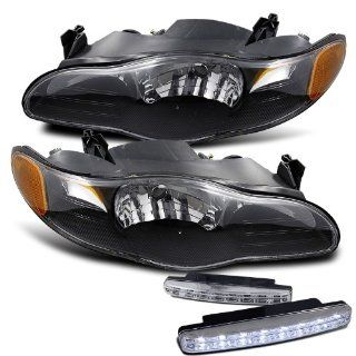 2000 2005 Chevy Monte Carlo Headlights + 8 Led Fog Bumper Light