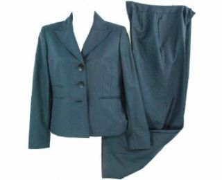 Kasper Two Piece Pant Suit Navy 2P Clothing