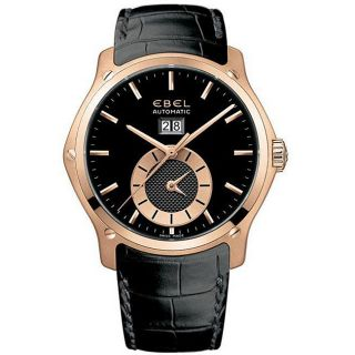 Ebel Classic Hexagon Mens Rose Gold Dual Time Watch