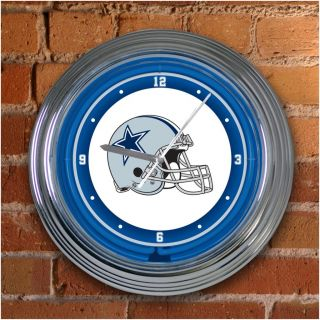 Dallas Cowboys 15 inch Neon Clock