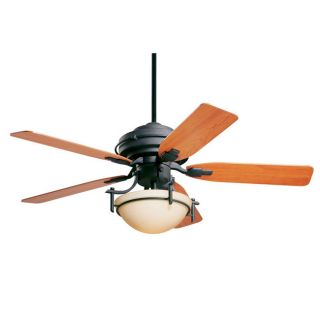 Olympia 52 inch Distressed Black Ceiling Fan