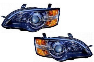 Subaru Legacy Replacement Headlight Assembly (Black)   1 Pair