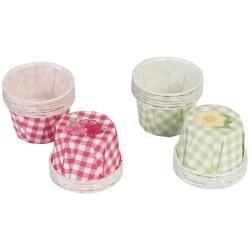 Martha Stewart Flower Pastel Gingham Favor Cups (Pack of 24