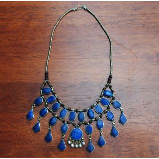 Hand crafted Tribal Lapis Lazuli/ Silver Necklace (Afghanistan