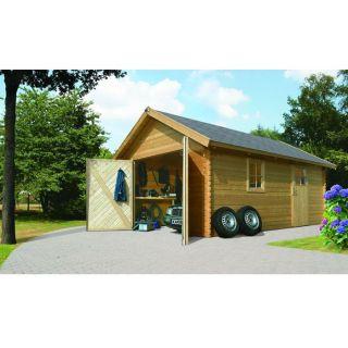 Garage en pin 387 x 537 x 309 cm   Achat / Vente GARAGE   CARPORT