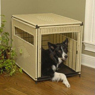 Pet Residence in Natural Wicker Size Large Pet Supplies