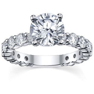 18k White Gold 3 1/10ct TDW Diamond Engagement Ring (G H, SI1 SI2