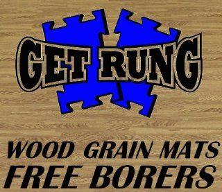 GET RUNG MATS WOOD GRAIN 240 SQ Ft Pack foam interlocking