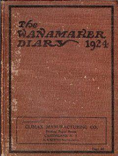 The Wanamaker Diary 1924 John Wanamaker Books