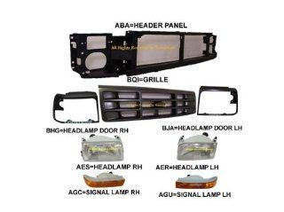 92 97 FORD F250 F350 HEADER PANEL GRILLE ARGENT BEZEL 8 :