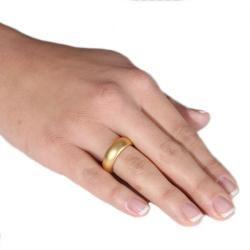 14k Gold Overlay Frosted Satin Finish Wedding style Band