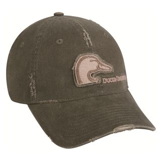 Ducks Unlimited Olive Frayed Adjustable Hat