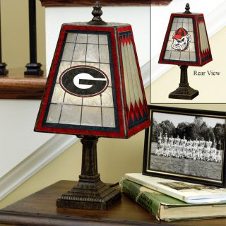 Georgia Bulldogs 14 inch Art Glass Lamp