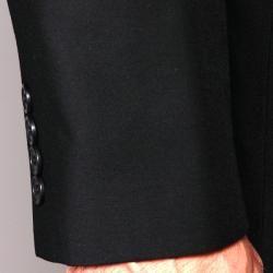 Carlo Lusso Mens Black 2 button Slim fit Suit