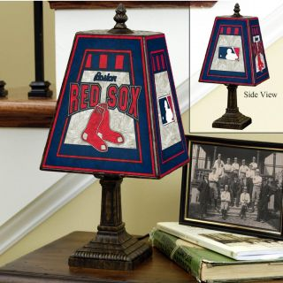 Boston Red Sox 14 inch Art Glass Lamp